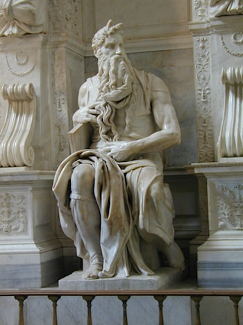 Tomb of Pope Julius II: Moses by Michelangelo